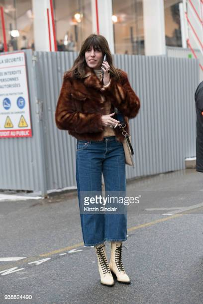 Singer songwriter Lou Doillon wears all Chloe day 4 of Paris Womens Fashion Week Spring/Summer 2018 on March 1 2018 in London England