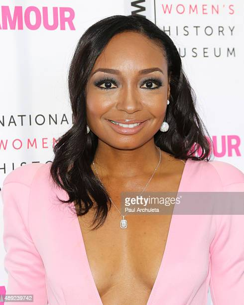 Singer / Songwriter Malina Moye attends the National Women's History Museum's 4th annual Women Making History brunch at Skirball Cultural Center on...