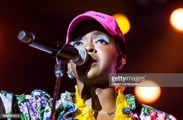 Singer songwriter Ms Lauryn Hill performs during The Miseducation of Lauryn Hill 20th Anniversary Tour at Festival Pier at Penn's Landing on July 13...