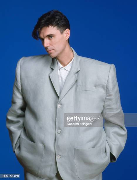 Singer songwriter musician poses for a portrait in 1983 in New York City New York