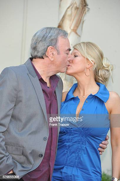 Singer / songwriter Neil Diamond and wife Katie McNeil attend the ceremony that honored him with a Star on the Hollywood Walk of Fame