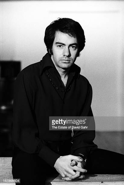 Singer songwriter Neil Diamond poses for a portrait in December 1968 in New York City New York