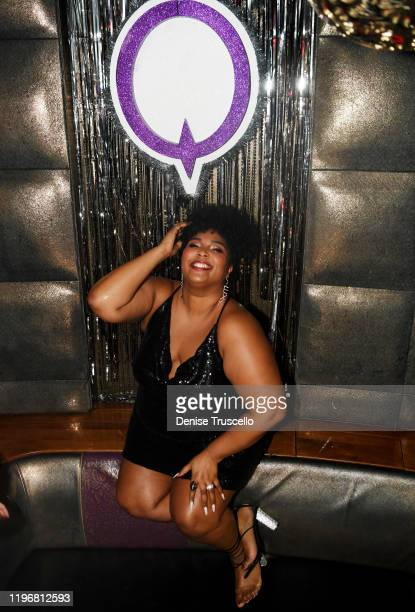 Singer/ songwriter/ rapper Lizzo poses for a photo before her performance at Marquee Nightclub Las Vegas on December 30 2019 in Las Vegas Nevada