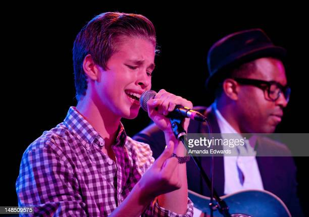 Singer / songwriter Ryan Beatty and guitarist Dayyon Alexander perform onstage at The Roxy Theatre on July 17 2012 in West Hollywood California