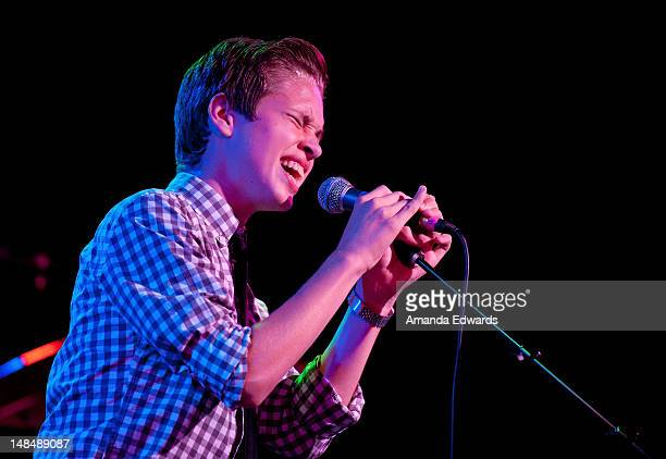 Singer / songwriter Ryan Beatty performs onstage at The Roxy Theatre on July 17 2012 in West Hollywood California
