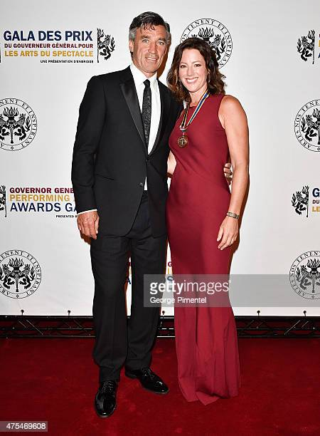 singer songwriter Sarah McLachlan and former NHL hockey player Geoff Courtnall attend the Governor General's Performing Arts Awards Gala at National...
