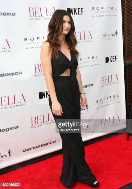 Singer /Songwriter Savannah Outen attends the BELLA Magazine Los Angeles summer Issue launch party at the Sofitel Los Angeles At Beverly Hills on...