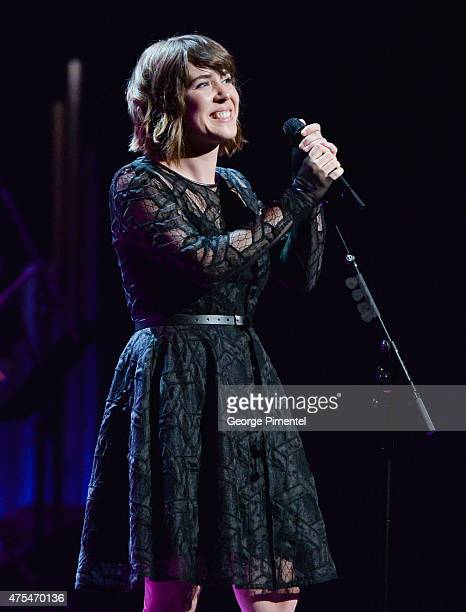 Singer songwriter Serena Ryder performs the Governor General's Performing Arts Awards Gala at National Arts Centre on May 30 2015 in Ottawa Canada