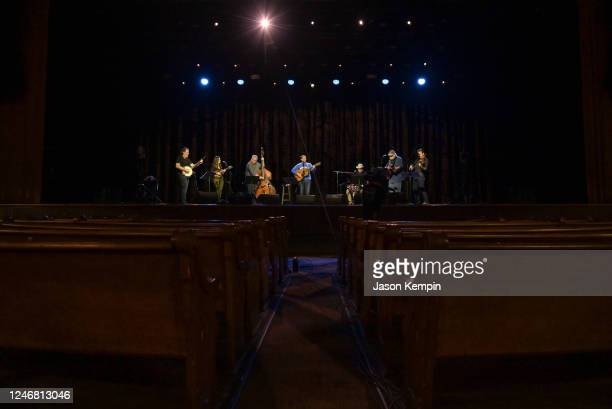 Singer & Songwriter Sturgill Simpson performs at the Ryman Auditorium on June 05, 2020 in Nashville, Tennessee. The Ryman Auditorium is currently...