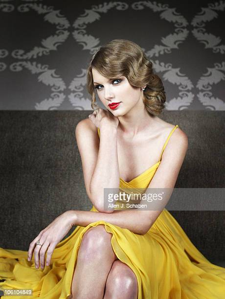 Singer songwriter Taylor Swift poses at a portrait session for the Los Angeles Times in Los Angeles CA on October 25 2010 Published Image CREDIT MUST...