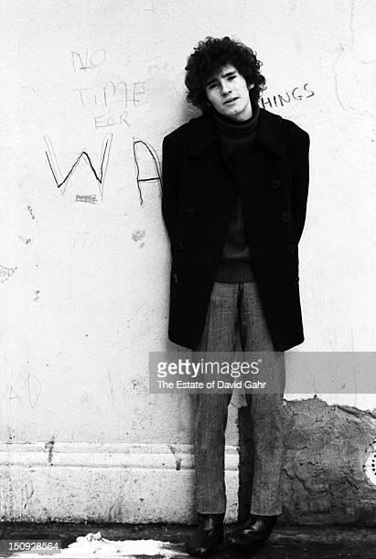 Singer songwriter Tim Buckley poses for a portrait on February 10 1967 in Greenwich Village New York City New York