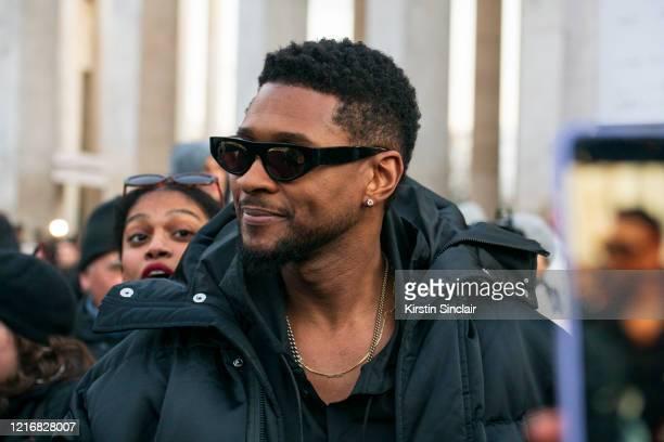 Singer Songwriter Usher Raymond on February 27, 2020 in Paris, France.