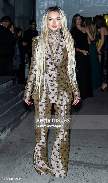 Singer songwriter Zhavia Ward is seen arriving to the 2020 amfAR New York Gala at Cipriani Wall Street on February 05 2020 in New York City
