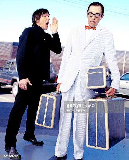 Singer songwriters and brothers Russell Mael and Ron Mael L-r, of the group Sparks pose for a portrait circa 2009 in Los Angeles, California