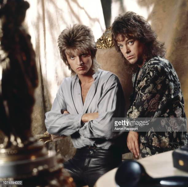 Singer songwriters Graham Russel and Russell Hitchcock Lr of the group Air Supply pose for a portrait circa 1983 in Los Angeles California