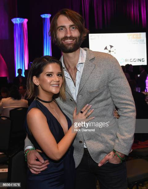 Singer Songwriters Maren Morris and Ryan Hurd attend the 2017 Nashville Songwriters Hall Of Fame Awards at Music City Center on October 23 2017 in...