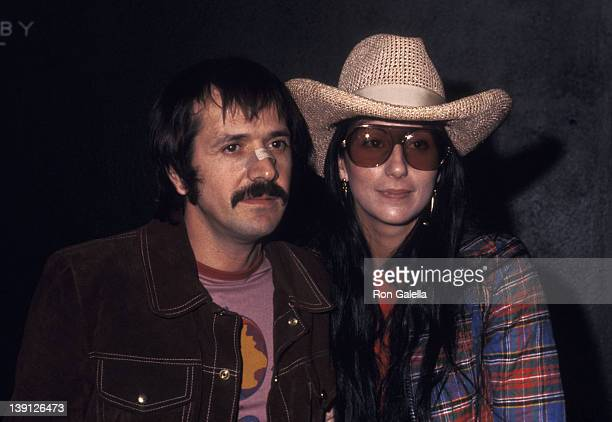 Singer Sonny Bono and singer Cher on January 18 1972 arrive for taping of The Sonny Cher Comedy Hour at CBS Television City in Los Angeles California