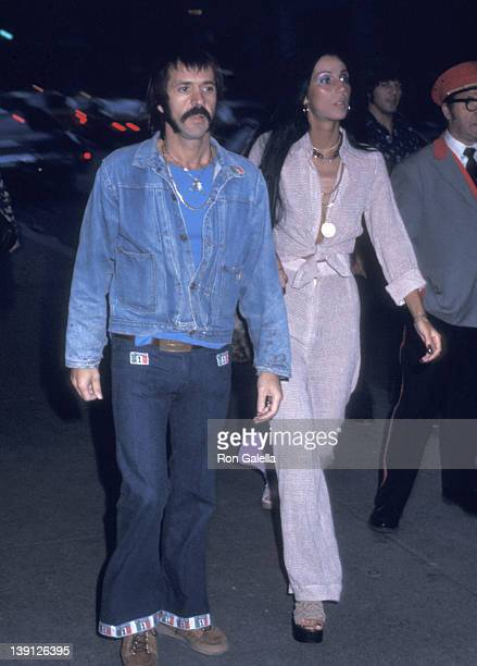 Singer Sonny Bono and singer Cher on May 6, 1973 sighting at the St. Regis Hotel in New York City.