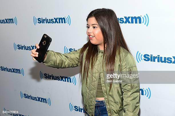 Singer Sophia Grace takes a selfy at SiriusXM Studios on June 23 2016 in New York City