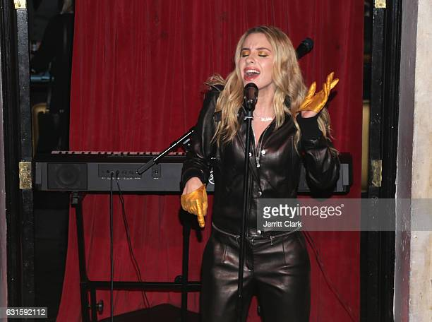Singer Sophie Beem performs at Jena Rose's Birthday Celebration At Bardot on January 12 2017 in Hollywood California
