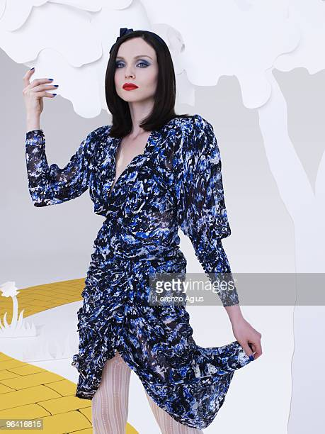 Singer Sophie Ellis Bextor poses for a portrait shoot in London on October 10 2009