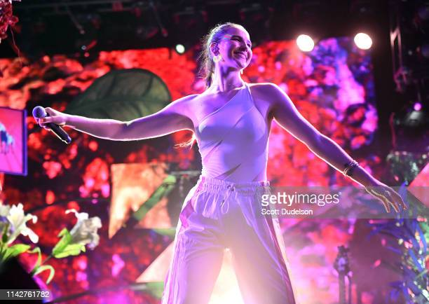 Singer Sophie Hawley-Weld of SOFI TUKKER performs onstage during Weekend 1, Day 3 of the Coachella Valley Music and Arts Festival on April 14, 2019...
