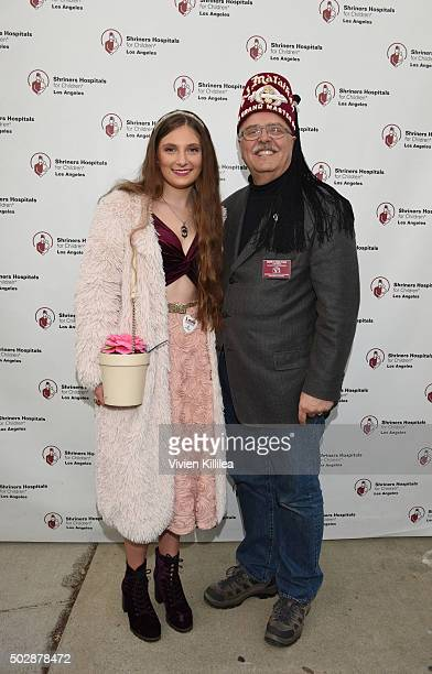 Singer Sophie Rose and Shriners Hospitals forChildren Los Angeles board chairman David R Doan attend Celebrities Decorate The Shriners Rose Parade...
