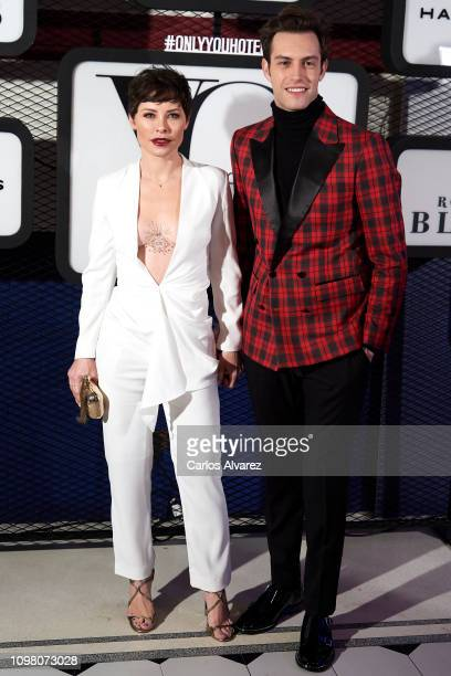 Singer Soraya Arnelas and husband Miguel Herrera attend 'Yo Dona' Mercedes Benz Fashion Week Madrid Autumn/Winter 201920 party at the Only You Hotel...