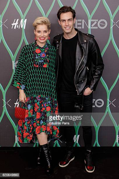 Singer Soraya Arnelas and Miguel Herrera attend the Kenzo X HM photocall at HM store on November 2 2016 in Madrid Spain