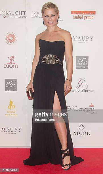 Singer Soraya Arnelas attends the Global Gift Gala photocall at Madrid Townhall on April 2 2016 in Madrid Spain