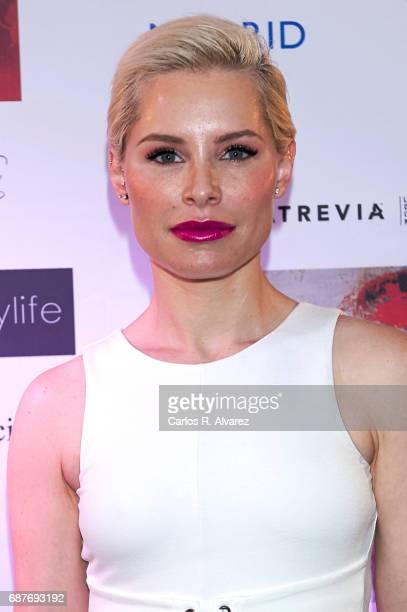 Singer Soraya Arnelas attends the 'Madwomenfest' presentation at the Palacio de los Deportes WiZink Center on May 24 2017 in Madrid Spain