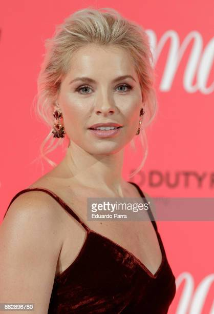 Singer Soraya Arnelas attends the 'Woman 25th anniversary' photocall at Madrid Casino on October 18 2017 in Madrid Spain