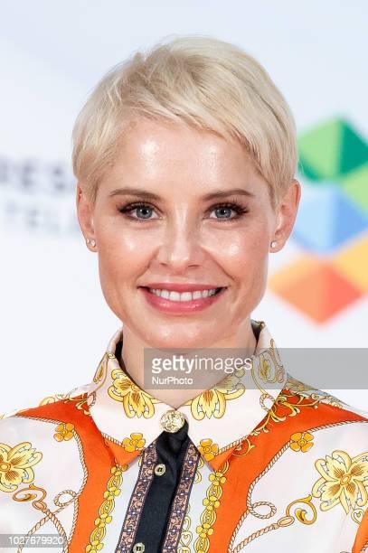 Singer Soraya attends to presentation of new season of 'Tu cara me suena' during FestVal in Vitoria Spain September 06 2018