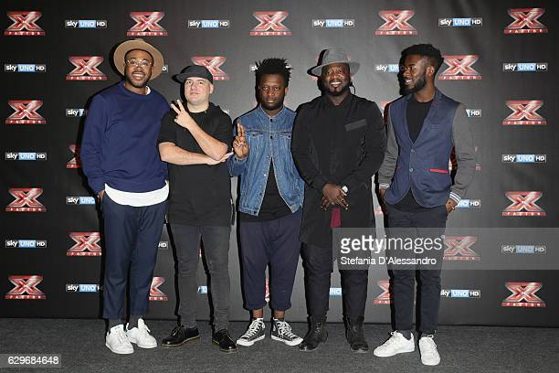 Singer Soul System attend 'X Factor Tv Show Final Press Conference on December 14 2016 in Milan Italy
