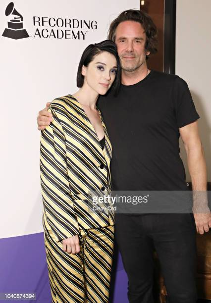 Singer St Vincent and mix engineer Tom Elmhirst attend as The Recording Academy presents a Craft Session with St Vincent at Electric Lady Studio on...