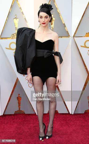 Singer St Vincent attends the 90th Annual Academy Awards at Hollywood Highland Center on March 4 2018 in Hollywood California