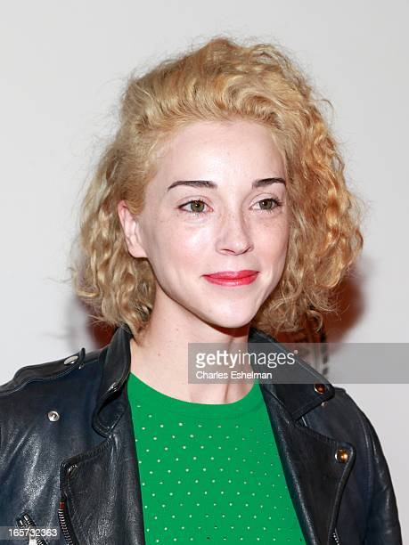 Singer St Vincent attends The Friars Club Roast Honors Jack Black at New York Hilton and Towers on April 5 2013 in New York City