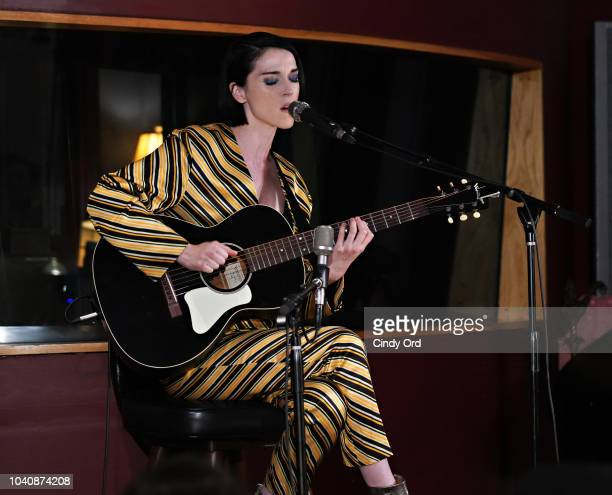 Singer St. Vincent performs as The Recording Academy presents a Craft Session with St. Vincent at Electric Lady Studio on July 25, 2018 in New York...
