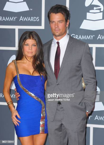 Singer Stacy 'Fergie' Ferguson and actor Josh Duhamel arrive at the 52nd Annual GRAMMY Awards held at Staples Center on January 31 2010 in Los...