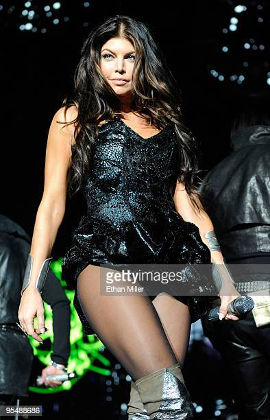 Singer Stacy Fergie Ferguson of the Black Eyed Peas performs at the Mandalay Bay Events Center December 29 2009 in Las Vegas Nevada The group is...