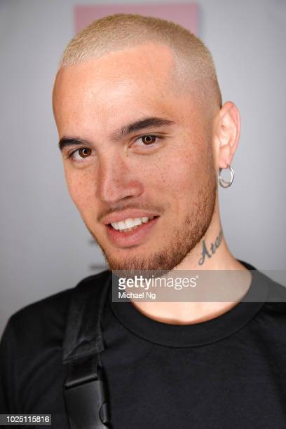 Singer Stan Walker poses backstage ahead of the Not For You Contemporary Salon show during New Zealand Fashion Week 2018 at Viaduct Events Centre on...