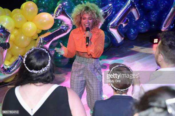 Singer Starley performs onstage as BuzzFeed hosts its 2nd Annual Queer Prom Powered by Samsung For LGBTQ Youth at Samsung 837 on June 1 2018 in New...