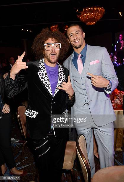 Singer Stefan Kendal Gordy and NFL player Colin Colin Kaepernick attends the 55th Annual GRAMMY Awards PreGRAMMY Gala and Salute to Industry Icons...