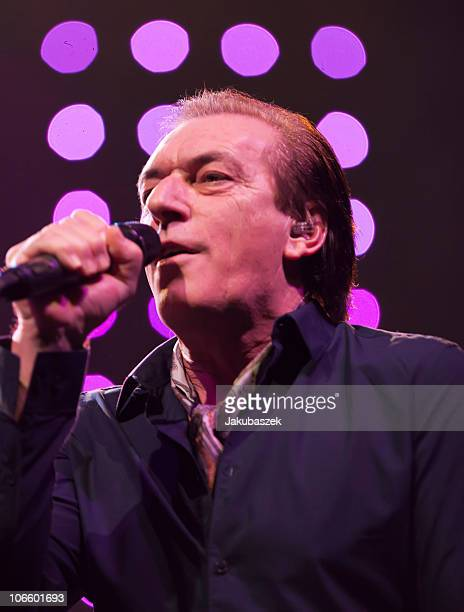 Singer Stefan Zauner of the German pop band Muenchener Freiheit performs live during a concert at the Tempodrom on November 6, 2010 in Berlin,...