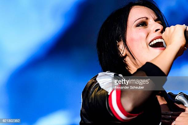 Singer Stefanie Kloss of the band Silbermond performs during the German Sports Media Ball at Alte Oper on November 5 2016 in Frankfurt am Main Germany