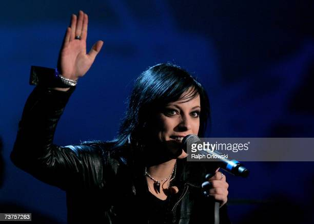 Singer Stefanie of German band Silbermond performs during the live broadcast of 'Wetten dass' show at the Messehalle March 31 2007 in Freiburg Germany