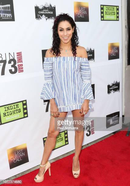 Singer Stefni Valencia attends the premiere of 'Last Curtain Call' at Laemmle's Music Hall Theatre on August 23 2018 in Beverly Hills California