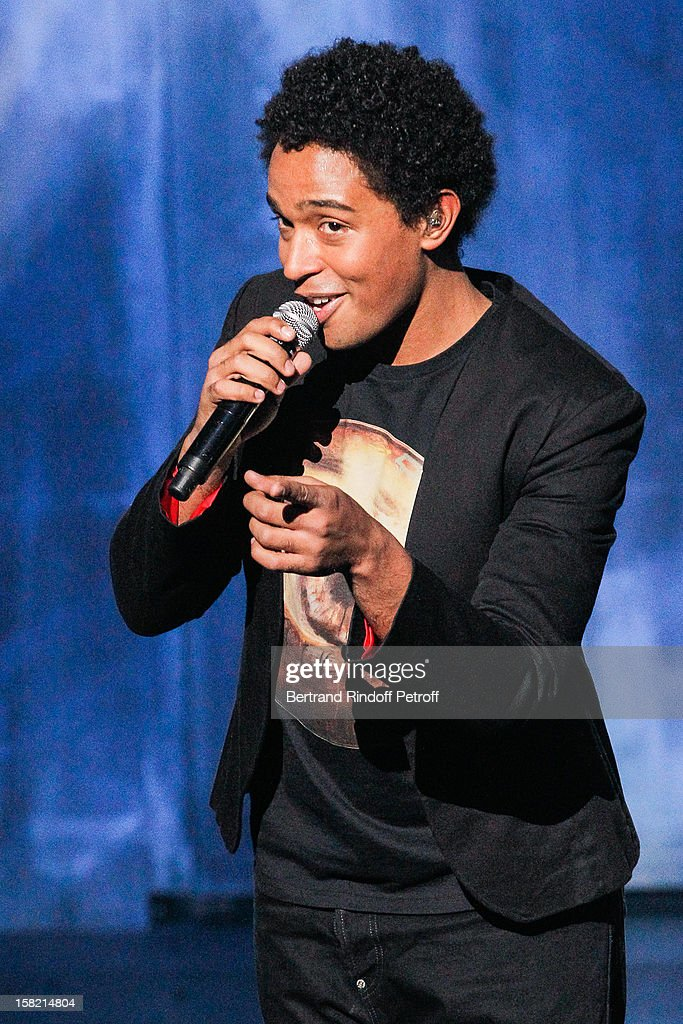 Singer Stephan Rizon performs during 'La Chanson De L'Annee 2012' Show Recording at Palais des Sports on December 10, 2012 in Paris, France.