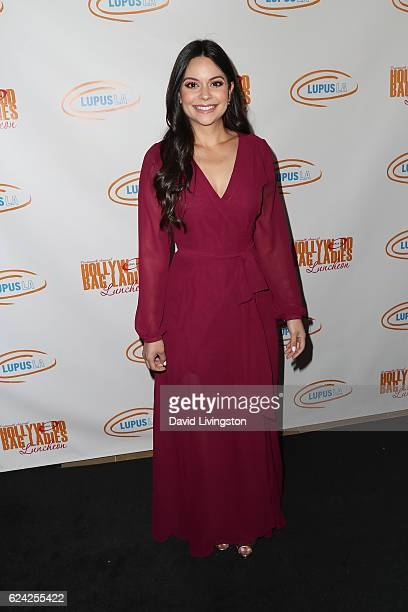 Singer Stephanie Carcache arrives at the 14th Annual Lupus LA Hollywood Bag Ladies Luncheon at The Beverly Hilton Hotel on November 18 2016 in...