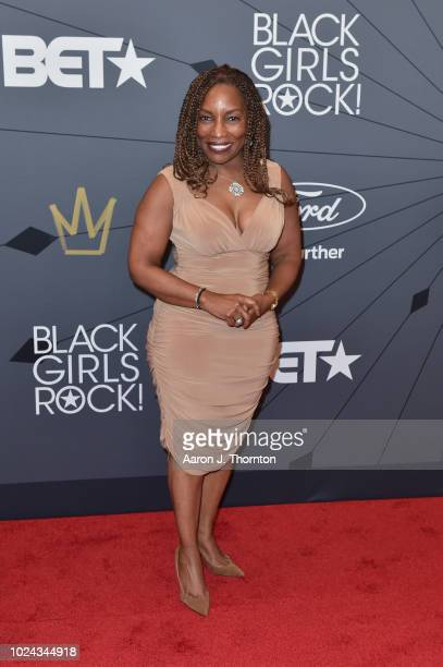 Singer Stephanie Mills attends the Black Girls Rock Red Carpet at the New Jersey Performing Arts Center on August 26 2018 in Newark New Jersey